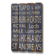 Wooden  Scotland  Plaque