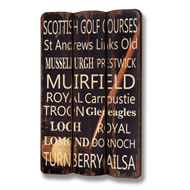 Scotland Golf Plaque