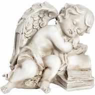 Peaceful  Cherub  On  Books