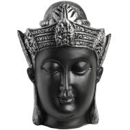 Buddha Head - black and silver