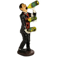 Drinking Butler Wine Bottle Holder