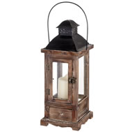 Antique Brown Wooden Lantern