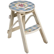 Vintage  Rose  Small  Stool