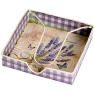 Lavender  Pattern  Napkin  Holder