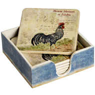 Farm  Yard  Style  Set  Of  6  Coasters