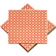 Pack  Of  20  Red  &  Yellow  Check  Paper  Napkins