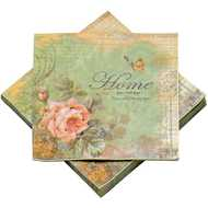 Pack  Of  20  Floral  Paper  Napkins