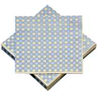 Blue  Checked  Paper  Napkins