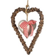 Small  Heart  In  Larger  Wicker  Heart