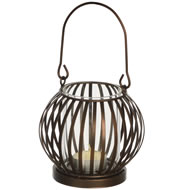 Metal  Basket  Tea  Light  Holder