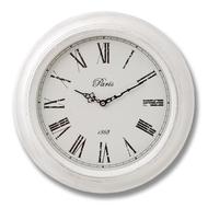 Paris  Wall  Clock  With  Roman  Numerals