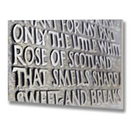 The Little White Rose Of Scotland Plaque Canvas