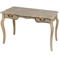 Traditional  Limed  Oak  2  Drawer  Desk