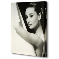 Audrey  Hepburn  In  Shower  Canvas
