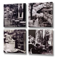 Set  Of  4  Cafe  Canvas