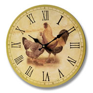 Hen  &  Cockerel  Clock