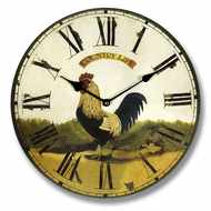 Black  Cockerel  Country  Life  Clock