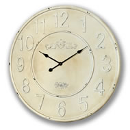 Rustic  Cream  Clock
