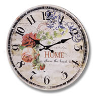 Home  Is  Where  The  Heart  Is  Clock