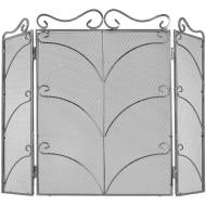 Heavy Large Silver Ornate Fire Screen