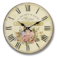 Rue d'Alesia Paris Wall Clock