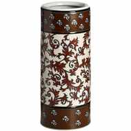 Deep  Red  Patterned  Umbrella  Stand