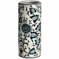 Dark  Blue  Leaf  Patterned  Umbrella  Stand