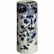 Deep  Blue  Floral  Umbrella  Stand