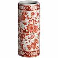 Red  Floral  Umbrella  Stand