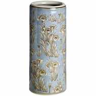 Light  Blue  Floral  Umbrella  Stand