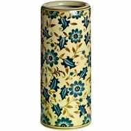 Blue  Floral  Umbrella  Stand