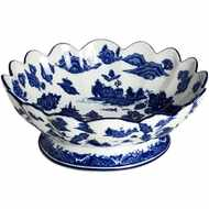 Oriental  Qing  Hua  Fruit  Bowl