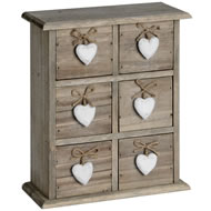 6  Drawer  Heart  Box