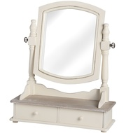 Country Dressing Table Mirror With Two Drawers