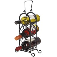 Three Wine Bottle Carrier with Handle