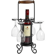 Wine  Bottle  4  Glass  Holder