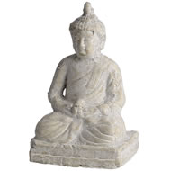Distressed  Cream  Buddha