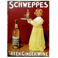 Schweppes Green Ginger Wine Plaque