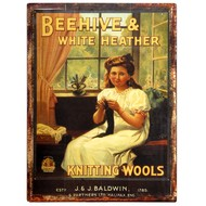 Beehive  &  White  Heather  Plaque