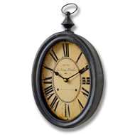 Oval  Shaped  Clock