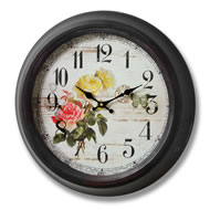 Rose  And  Butterfly  Clock