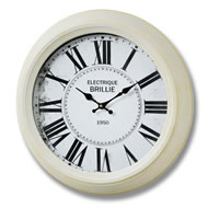 Cream  Electrique  Brille  Clock