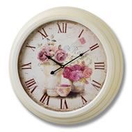 Rose  Clock  With  Roman  Numerals