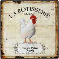 La  Rotisserie  Tin  Sign