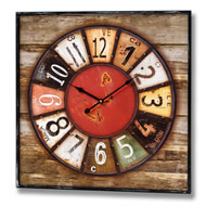 Brightly  Coloured  Clock