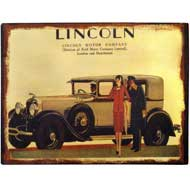 Lincoln Tin Plaque