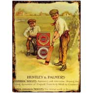 Huntley  &  Palmers  Biscuits  -  Boys  Playing  Cricket