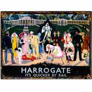 Harrogate  Railway  Colourful  Tin  Sign