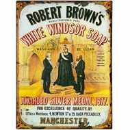 White  Windsor  Soap  Tin  Sign