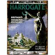 Harrogate  By  Rail  Tin  Sign